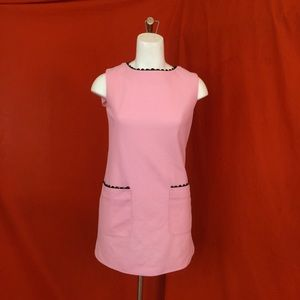 VINTAGE 60s Pink Shift Mini Dress